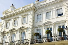 Prestige London Houses Royalty Free Stock Photos