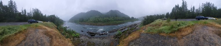 Prestige Oregon nature panoramic stock photo