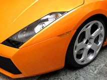 Prestige Sports Car. Wheel and tyre of a prestige sports car Stock Images