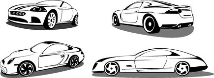 prestigefulla sportar för bilar royaltyfri illustrationer