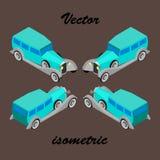 Prestigevolles Auto von 30. Jahren In isometry Vektor Abbildung
