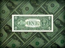 Prestigio americano del dólar en la posición clara Imagenes de archivo