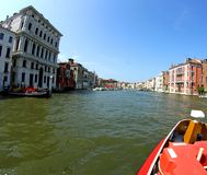 Prestigious palaces of the Republic of Venice on the Grand canal Stock Photo