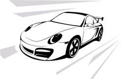 Prestigious sports machine royalty free illustration