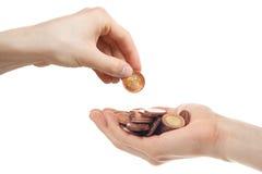 Prestiti dei soldi Fotografia Stock Libera da Diritti