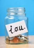 Prestiti del concetto dei soldi fotografie stock