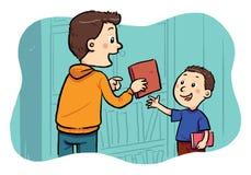Prestiti del libro Fotografia Stock Libera da Diritti