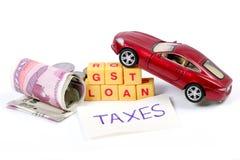Prestito e tasse di Gst Fotografie Stock
