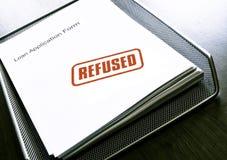Prestito rifiutato Fotografia Stock Libera da Diritti