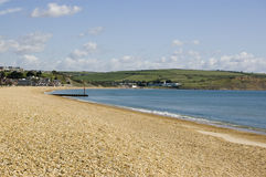 Preston Beach, Weymouth, Dorset. View looking north along the shingle Preston Beach at the seaside resort of Weymouth, Dorset Stock Image