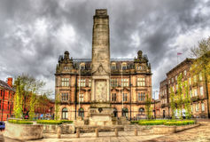 Preston Cenotaph, un monument aux soldats Images stock