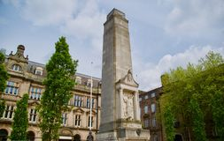 Looking at the cenotaph. Preston city The cenotaph Memorial Market square Lancashire England united kingdom stock photos