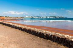 Preston piaski Plażowy Devon Anglia Obraz Royalty Free