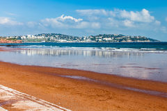 Preston Sands Beach Devon England stockbild