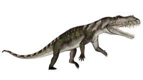 Prestosuchus dinosaur roaring - 3D render Stock Image