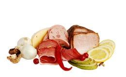 Presunto, bacon e frutas Fotos de Stock Royalty Free
