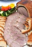 Presunto cozido no pão Fotos de Stock Royalty Free