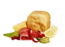Presunto e pão Fotografia de Stock Royalty Free