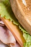 Presunto e queijo Foto de Stock