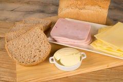 Ingredientes do sanduíche imagem de stock