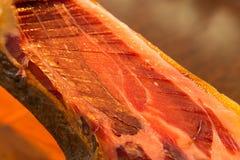 Presunto em detalhe, iberico do jamon de spain Foto de Stock