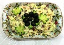 Presunto, queijo e salada dos feijões Fotografia de Stock Royalty Free