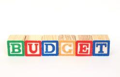 Presupuesto Foto de archivo libre de regalías