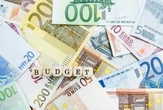 Presupuesto Imagen de archivo libre de regalías