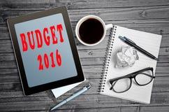 Presupuesto 2016 Imágenes de archivo libres de regalías