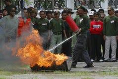 PRESUPUESTO DE LA GESTIÓN DE DESASTRES DE INDONESIA Fotos de archivo libres de regalías