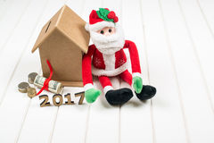 Presupuesto del Año Nuevo 2017 Concepto de la Navidad Imágenes de archivo libres de regalías
