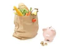 Presupuesto del alimento de la tienda de comestibles Imagenes de archivo