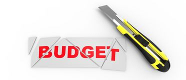 Presupuesto del corte Imagen de archivo libre de regalías