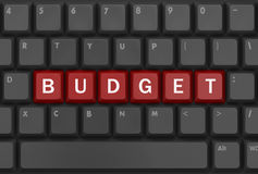 Presupuesto del texto Fotos de archivo