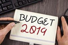Presupuesto 2019 del texto de la escritura de la palabra Concepto del negocio para la estimación del Año Nuevo de rentas y del pl Imagenes de archivo