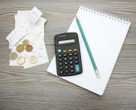 Presupuesto dom'estico Foto de archivo libre de regalías