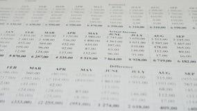 Presupuesto familiar o cuotas almacen de metraje de vídeo