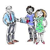Presupuesto familiar 2 similares stock de ilustración