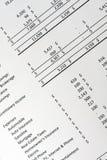 Presupuesto financiero personal Foto de archivo