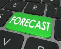 Presupuesto futuro Est de las finanzas del botón del teclado de ordenador de palabra del pronóstico stock de ilustración