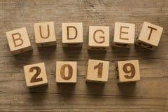 Presupuesto para 2019 Foto de archivo libre de regalías
