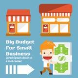 Presupuesto para el negocio ilustración del vector