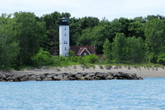 Presuqe Isle Light house from water Royalty Free Stock Images