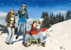 Pret 11 van de winter Stock Foto's