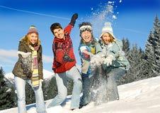 Pret 16 van de winter Stock Afbeelding