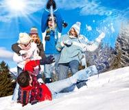 Pret 22 van de winter Stock Foto's