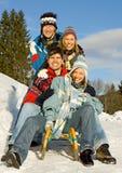 Pret 9 van de winter Stock Afbeeldingen