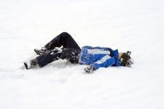 Pret in de sneeuw Stock Afbeelding