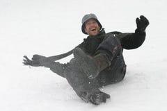 Pret in de Sneeuw royalty-vrije stock afbeelding