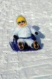 Pret in de sneeuw Stock Foto